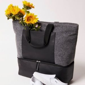Grey and Black tote